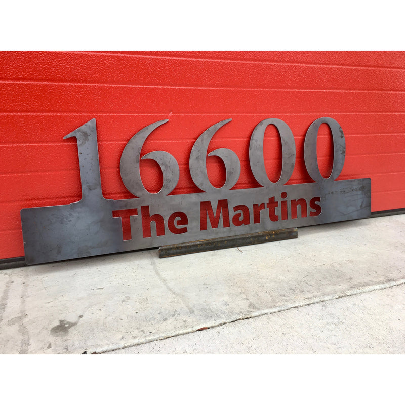 Custom Metal Sign | Address | Man Cave | First Name | Last Name | Steel Estate | Christmas | Personalized Gift | Year Established #1324