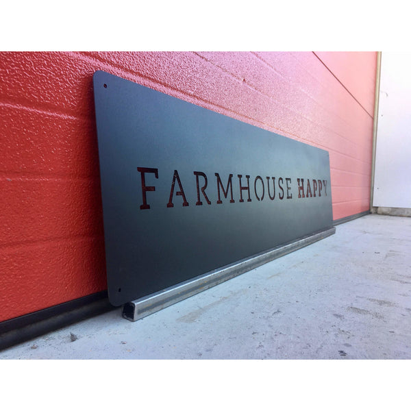 Farmhouse Happy | Metal Wall Art | House Decor | Farm Rustic Home Decor | #4101