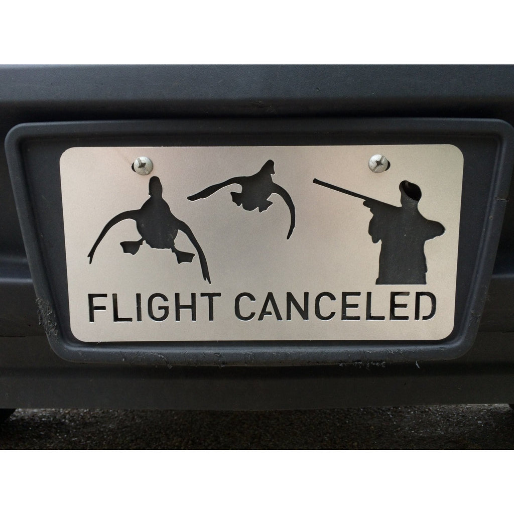 Flight Canceled | Duck Hunting Vanity License Plate | #4500