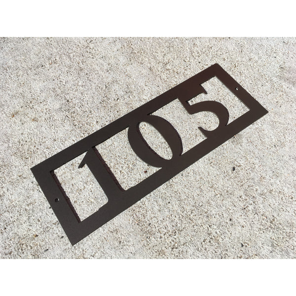 3 Horizontal House Number- #1007h3