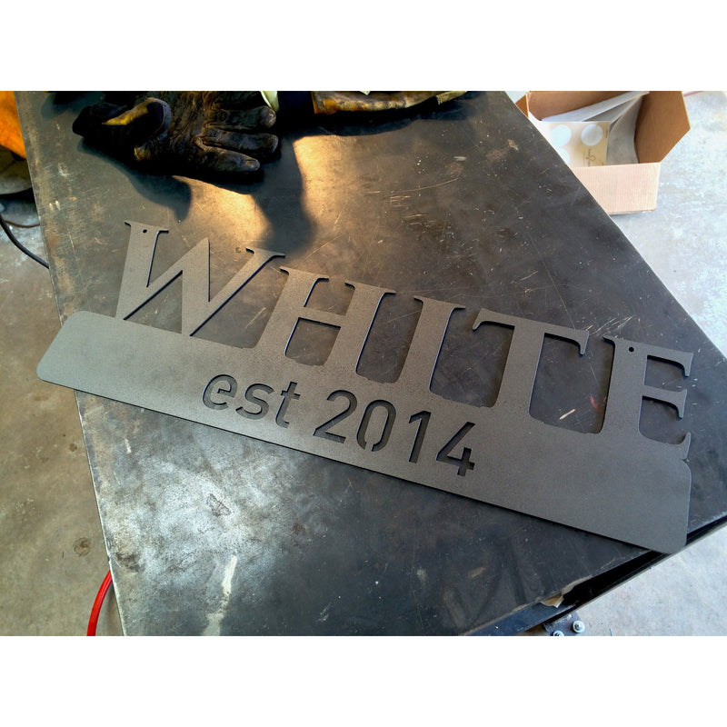 Custom Last Name Established Sign #1300