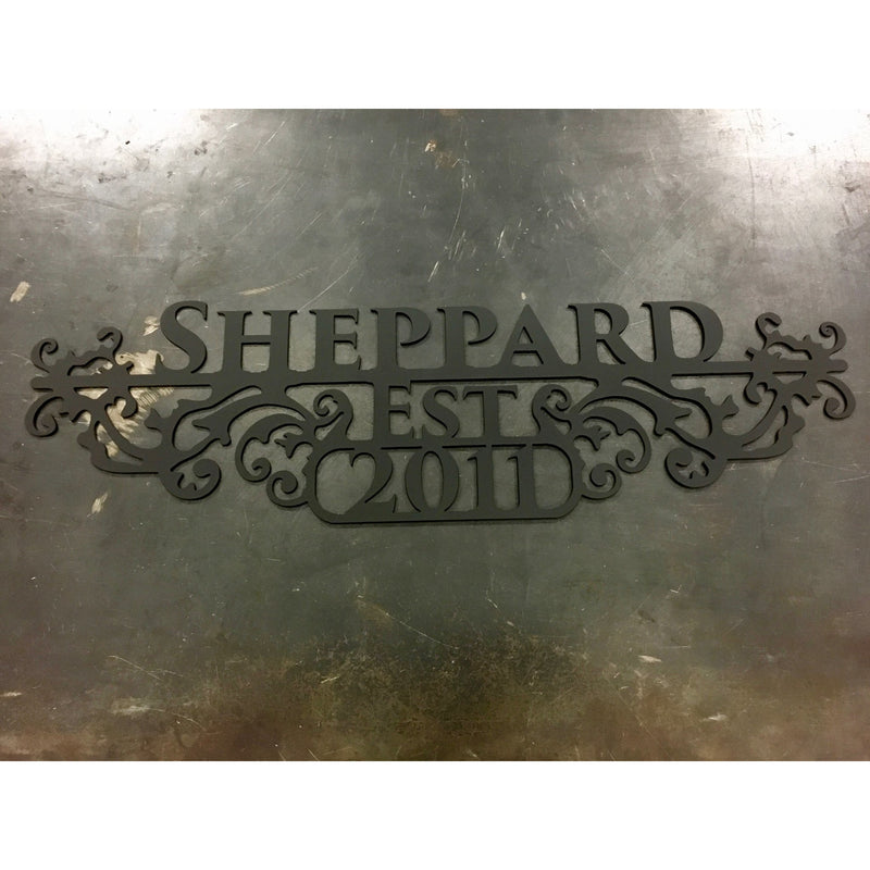 Elegant Last Name Sign- 35 inches - #1330m