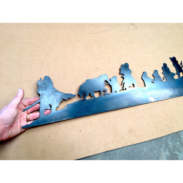 Large Fellowship of the Ring Silhouette Sign