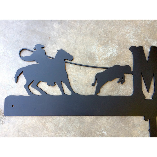 40 inch Custom Address Marker - With Deer or Horses