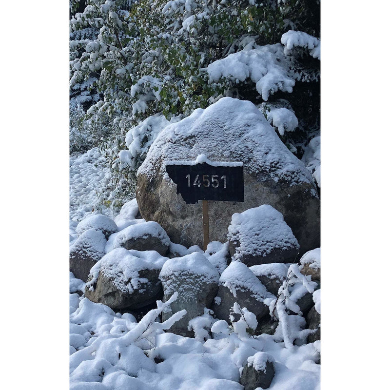 Montana with Address | Custom Sign | #1107