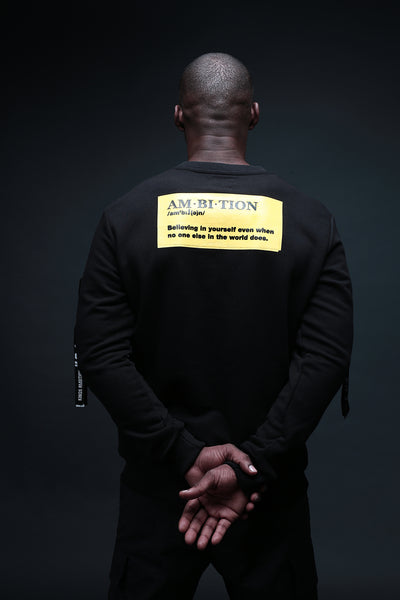 Black & Yellow Quote Sweater