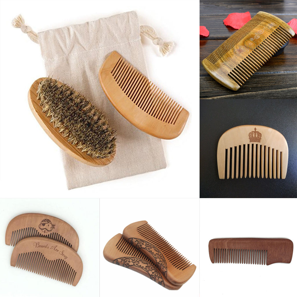 Small Handy Sandalwood Comb For Hair Beard & Mustache