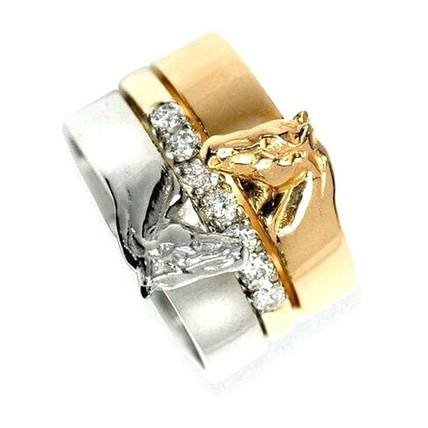 3 in 1 Love Horse Ring