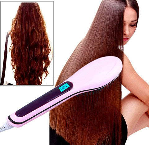 Straight Brush (65% OFF ) - ELECTRIC HAIR STRAIGHTENER