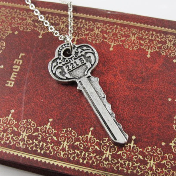 221B Key Sherlock Necklace