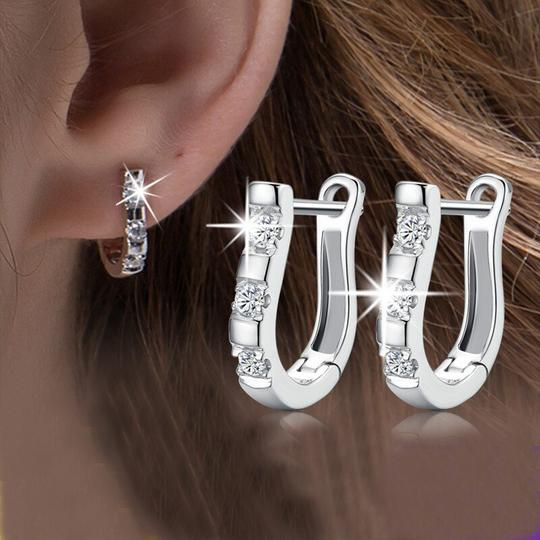SILVER HORSE SHOE STUFF EARRINGS