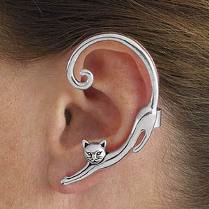 Stretched Out Cat Earring
