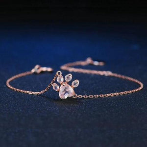 Rose Gold Paw Bracelet