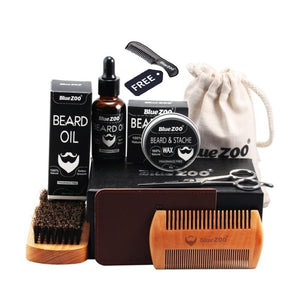 "Blue ZOO's Natural Organic Beard Care Kit ""8 Pcs"""