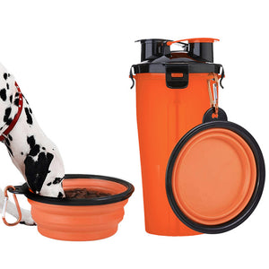 Dual Purpose Pet Travel Food & Water Bottle
