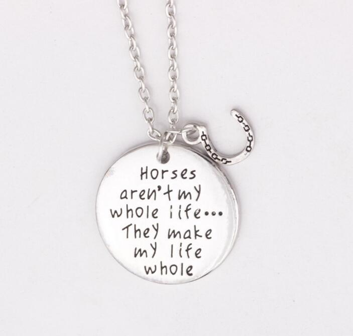 Horse Quote Necklace