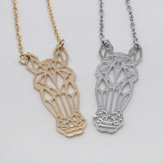 ORIGAMI CHARM HORSE NECKLACE