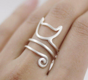 Fashion Cat Adjustable Wrap Ring