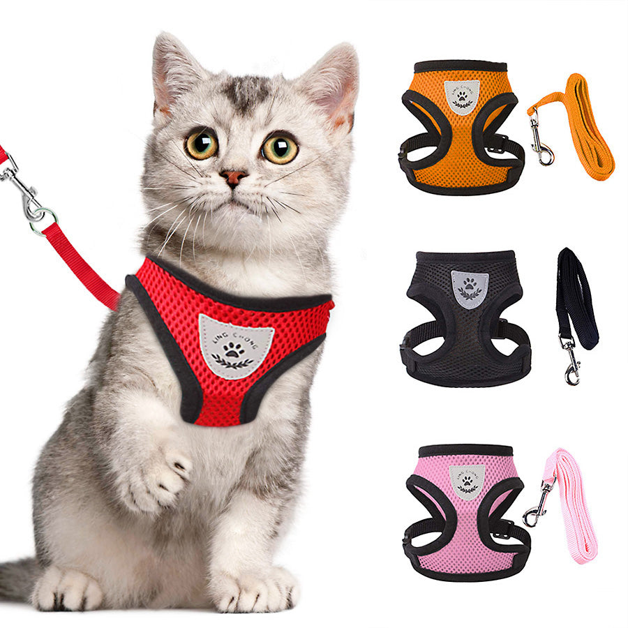 Adjustable Cat Harness Vest