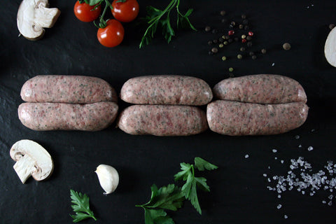 Farmhouse Sausages with Sage & Black Pepper