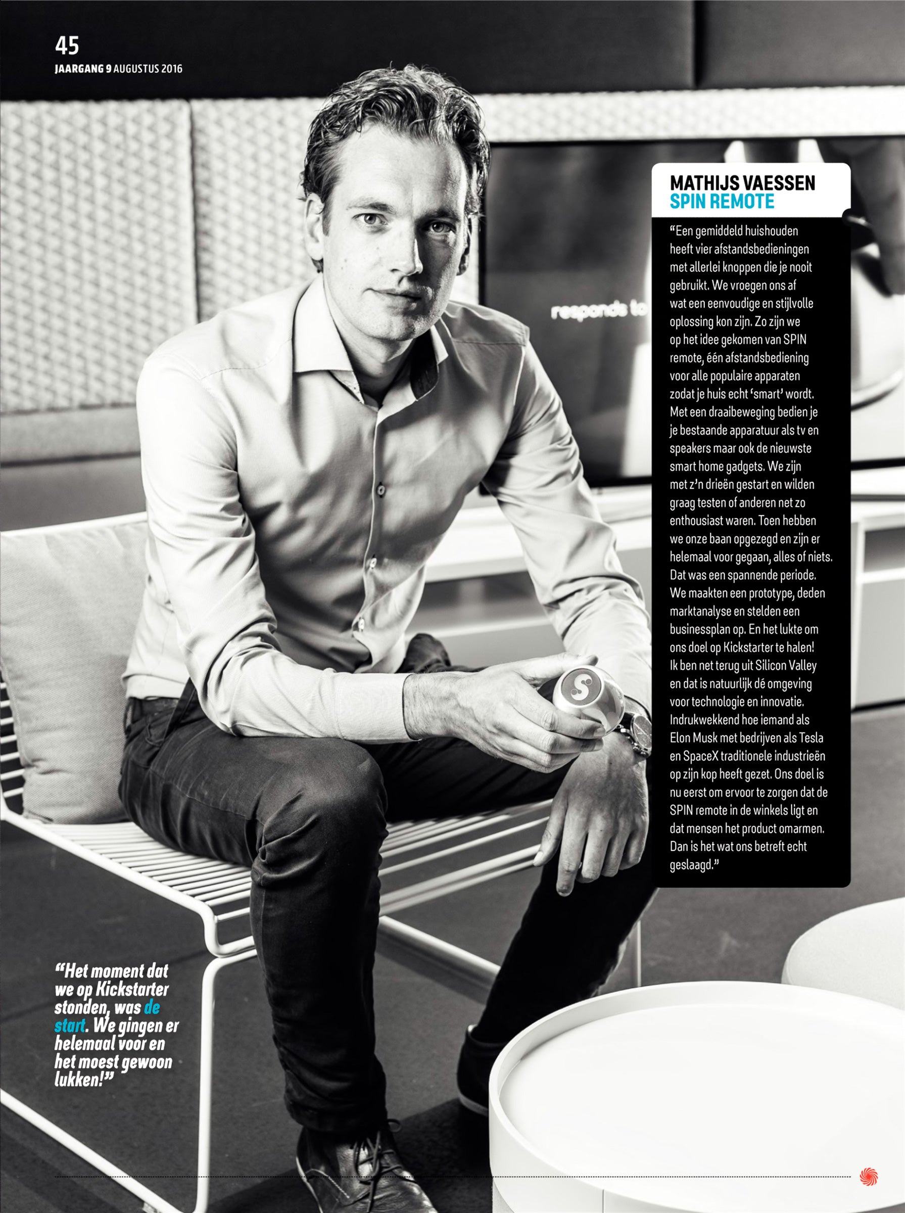 Co-Founder Mathijs Vaessen in Mediazine