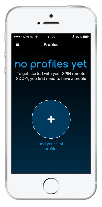 Open the SPIN remote app