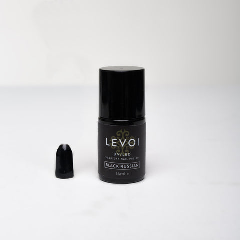 LEVOI Uv/Led Soak Off Gel Polish, BLACK RUSSIAN