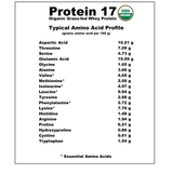 Protein 17 Organic Grass-fed Whey Protein - Natural