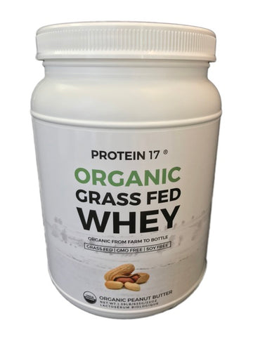 Protein 17 Organic Grass-fed Whey Protein - Organic Peanut Butter