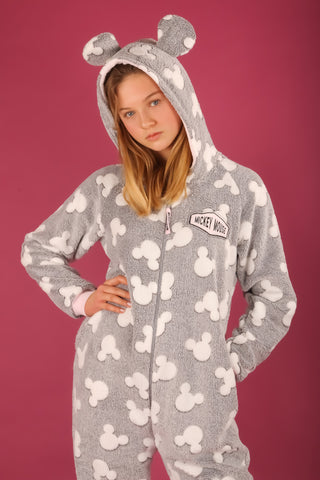 Disney's Mickey Mouse Grey and White Adult Primark Onesie