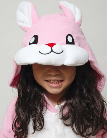 PINK FLUFFY BUNNY RABBIT KIDS ONESIE | ONESIEFUL
