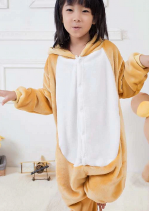 Fluffy Hukkuma Bear Kids Onesie | Onesieful