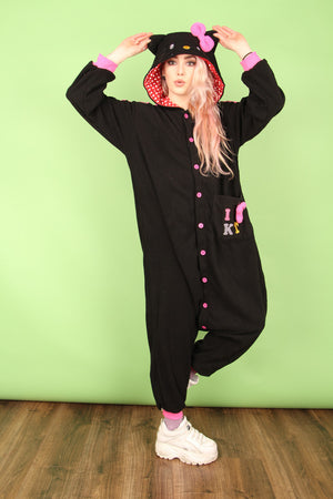 Hello Kitty Varsity Onesie | Onesieful