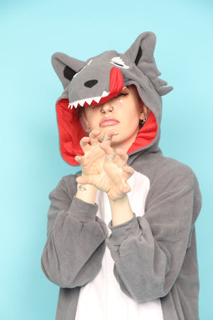 Premium Big Bad Grey Wolf  Onesie