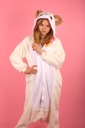 Premium Fluffy Sheep Adult Onesie | Onesieful