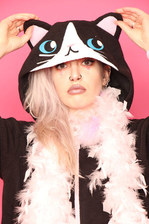 Midnight Black Cat Hoodie | Onesieful