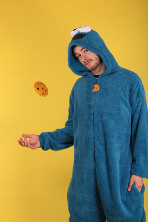 Sesame Street's Blue Cookie Monster Men's Onesie | Primark