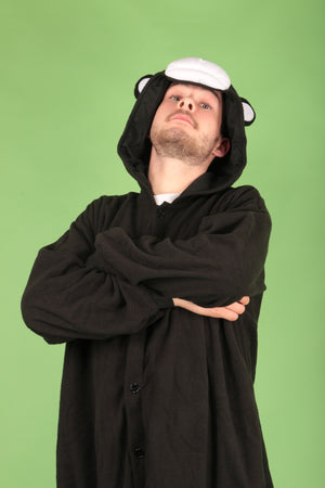 Premium Black Bear Adult Onesie | Onesieful
