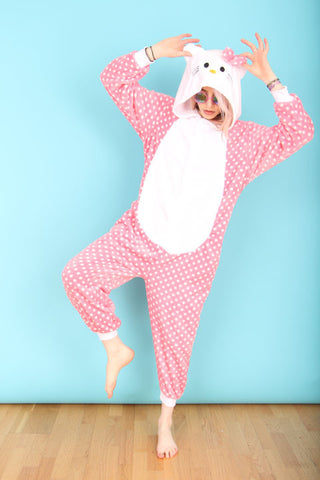 Hello Kitty Polka Dot Onesie | Onesieful