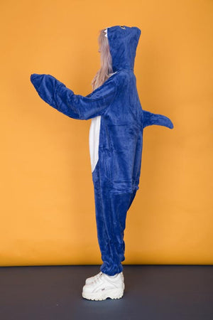 Blue Left Shark Onesie | Onesieful