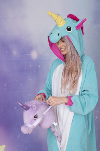 Premium Bold Beautiful Blue Unicorn Onesie | Onesieful