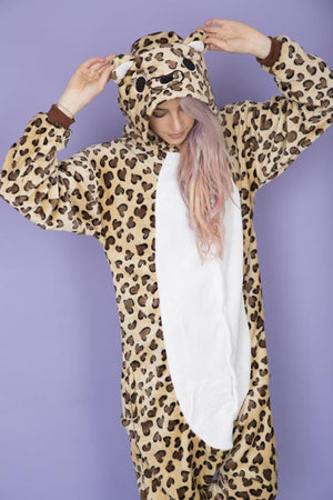 Cartoon Leopard Print Onesie | Onesieful