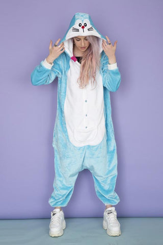 Blue Doraemon Cat Onesie | Onesieful