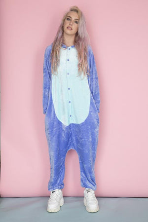 Blue Adult Stitch Onesie | Onesieful