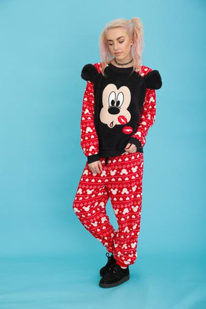 Minnie Mouse Bedtime Kisses Fluffy Pyjama Twosie Set | Primark
