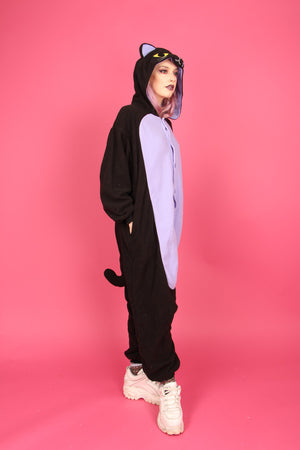 Midnight Black Cat Onesie | Onesieful