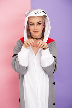 Thalia The Sliver Tabby Cat Onesie | Onesieful