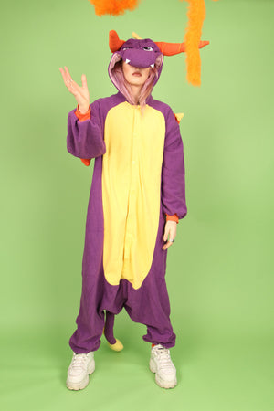 Premium Puff the Magic Purple Dragon Onesie | Onesieful