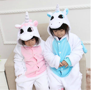 Pale Blue Unicorn Kids Onesie | Onesieful