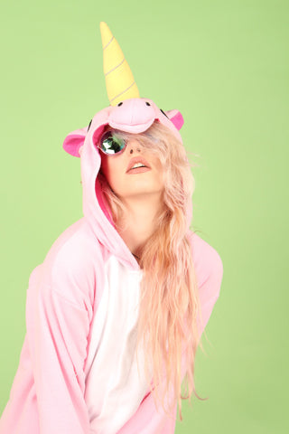 Premium Plush Pink Unicorn Onesie | Onesieful